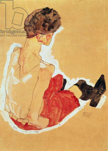 Seated Woman, 1911 (tempera)
