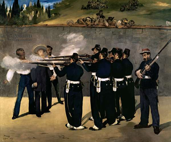 The Execution of the Emperor Maximilian, 1867-8 (oil on canvas)