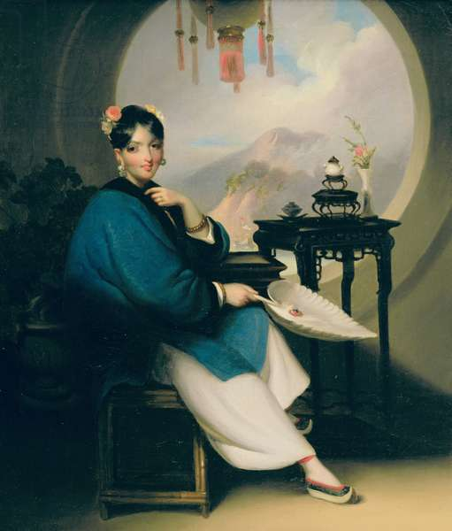 Portrait of a young Eurasian lady