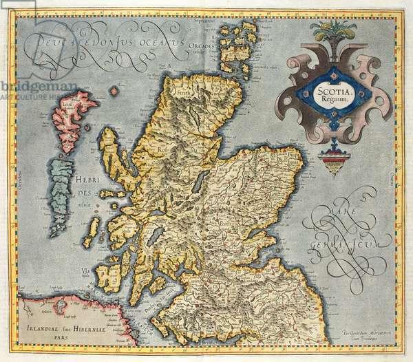 Map of the Kingdom of Scotland, 17th century