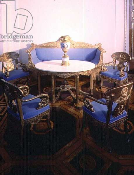 Empire Furniture, designed by Carlo Rossi (1775-1849), from the White Hall, Michael's Palace, St.Petersburg