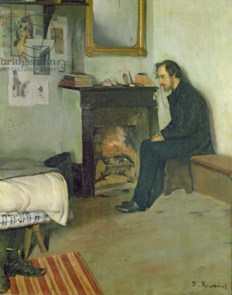 The Bohemian (portrait of Erik Satie in his studio in Montmartre), 1891 (oil on canvas)