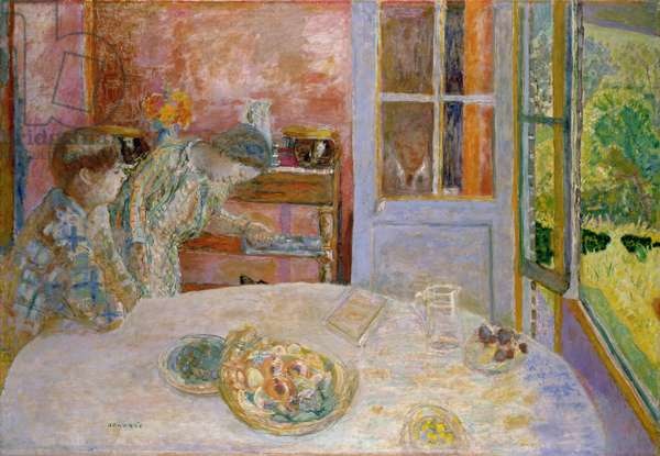 The Dining Room, Vernonnet, 1925 (oil on canvas)