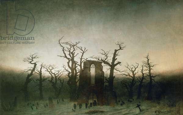 Abbey among Oak Trees, 1809-10 (oil on canvas)