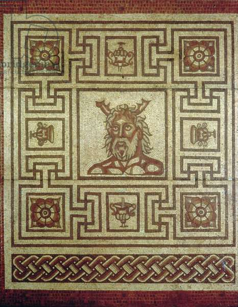 Sea God mosaic, Insula IV Building 8, c.160-190 AD (mosaic)