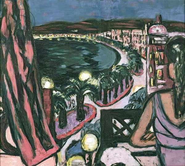 Promenade des Anglais, Nice, 1947 (oil on canvas)