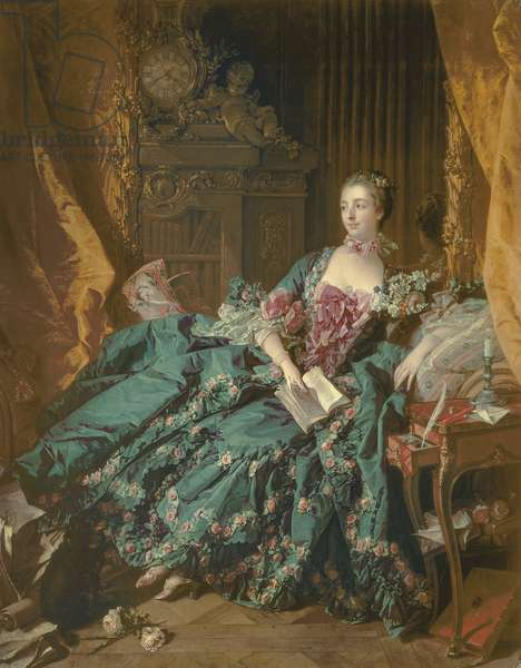 Madame de Pompadour, 1756 (oil on canvas)