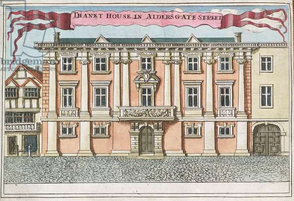 Thanet House in Aldersgate Street, from 'A Book of the Prospects of the Remarkable Places in and about the City of London', c.1700 (engraving)