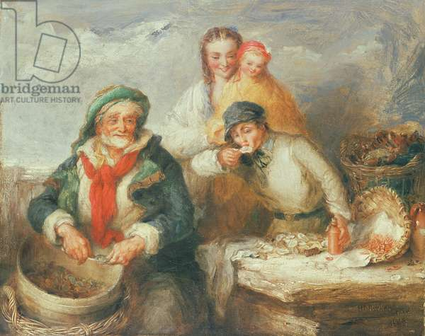 Sketch for 'Oysters, Young Sir?'