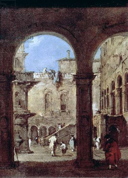 Architectural Capriccio, c.1770 (oil on canvas)