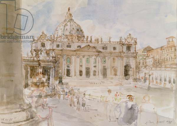 St. Peter's, Rome, 1988 (w/c on paper)