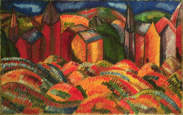 The Red Houses of Sainte-Adresse, 1910 (oil on canvas)