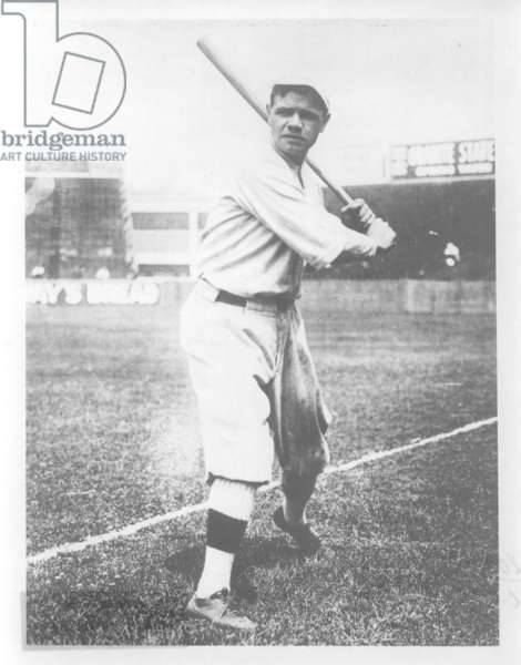 Babe Ruth (1895-1948) c.1920 (b/w photo)