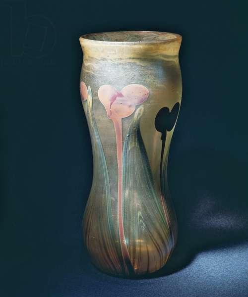 Tiffany favrile glass vase, New York, c.1896