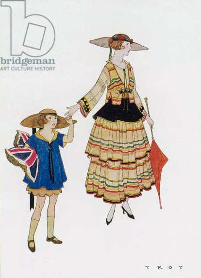 """Afternoon Dress - model by Mrs Jessie Porter from """"Colour Magazine"""""""