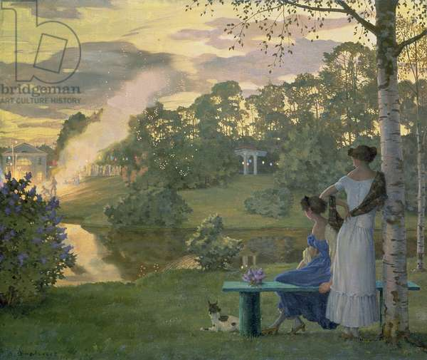Fireworks, 1922 (oil on canvas)