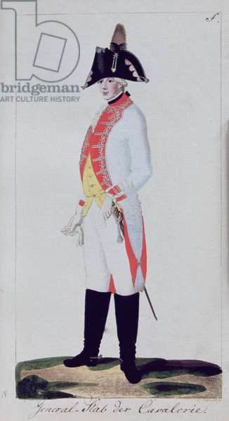 """Plate from """"Preussische Armee uniformen unter Friedrich Wilhelm II"""" Potsdam, 1789"""