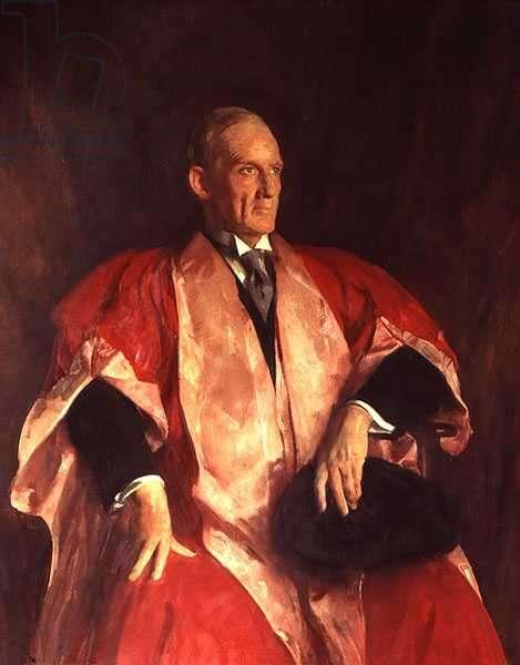 Sir Robert Robinson (1886-1975) (oil on panel)