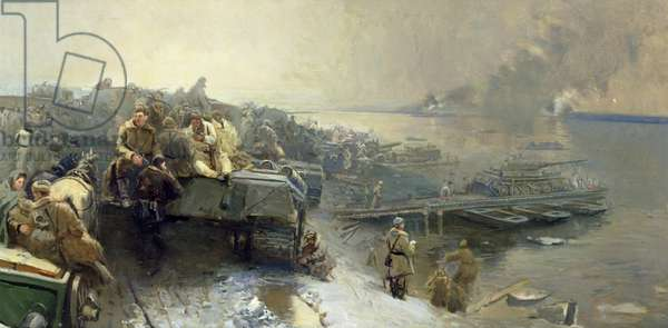 Soviet forces at the Danube near Budapest, January 1945, 1948 (oil on canvas)