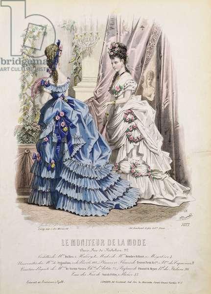 Fashion plate from 'Le Moniteur de la Mode' (colour litho)
