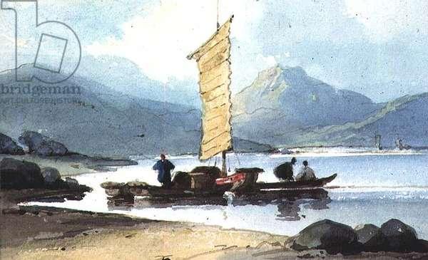 Boat with Yellow Sail, China