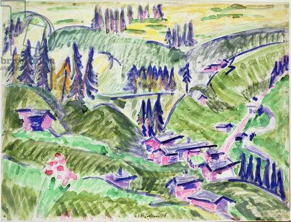 Landscape, 1918 (w/c)