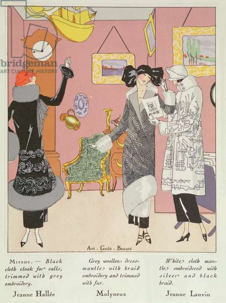 A Few Pretty Novelties, Costumes by Jeanne Hallee, Molyneux and Jeanne Lanvin from Art Gout Beaute, 1923