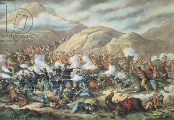 The Battle of Little Big Horn, June 25th 1876, 1889 (litho)