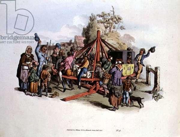 The Merry-Go-Round, 1805 (colour engraving)