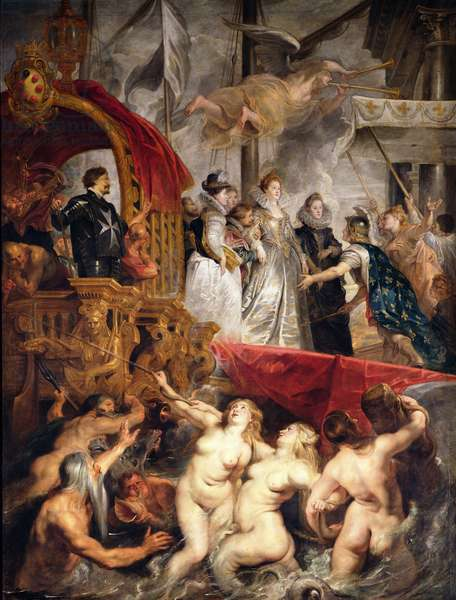 The Arrival of Marie de Medici in Marseilles, 3rd November 1600, 1621-25 (oil on canvas)
