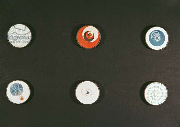 Rotoreliefs (optical discs) (see also 90821). The Rotoreliefs were first shown at the openining of the 33rd concours lepine, the salon des inventions, at the parc des expositions, porte de varsailles.