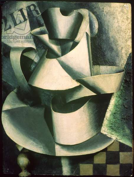 Still Life with Pitcher on a Table, 1915 (oil on cardboard)