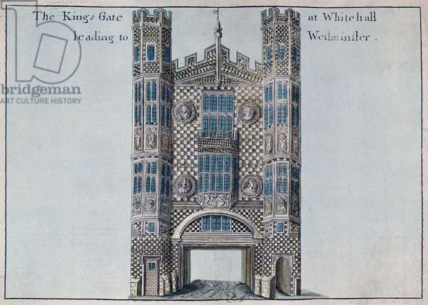 Whitehall: The Kings Gate Leading to Westminster, from 'A Book of the Prospects of the Remarkable Places in and about the City of London', c.1700 (engraving)