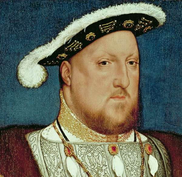 King Henry VIII (oil on oak panel) (detail of 4583)