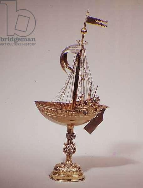 Nef, c.1610 (parcel gilt silver)
