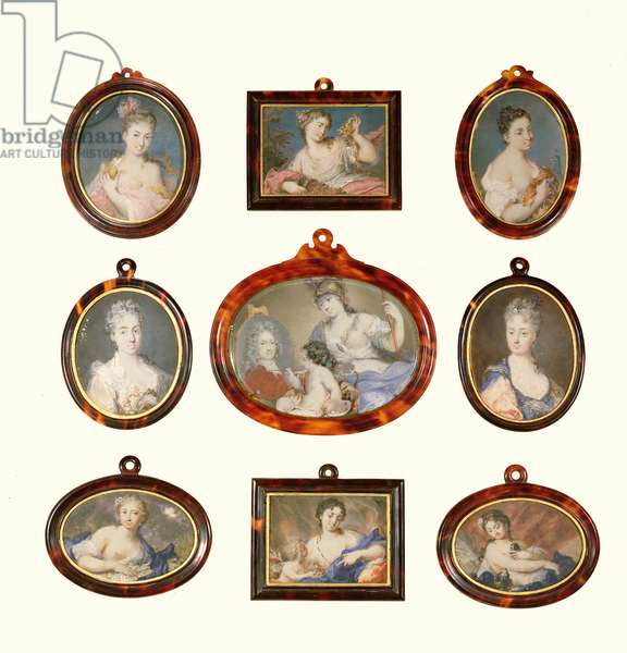 Selection of miniatures by Rosalba Carriera and Cornelius Hozer (fl.1766-67)