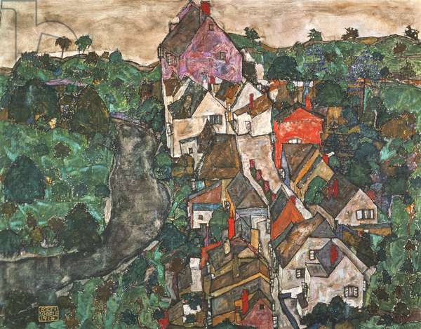 Landscape at Krumau, 1910-16 (painting)