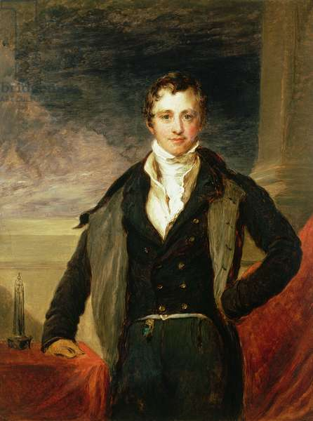 Portrait of Sir Humphry Davy (1778-1829) (oil)