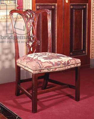 Ribband-backed chair by Chippendale, c.1760 (mahogony)