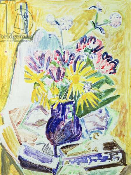 Flowers in a Vase, 1918-19 (w/c on paper)