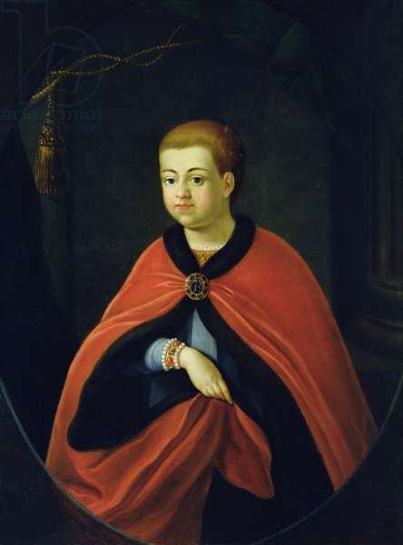 Portrait of Grand Duke Alexei Alexeevich (1654-1670) (oil on canvas)