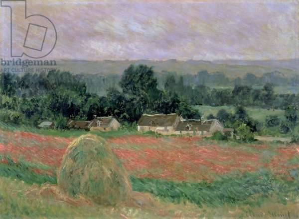 Haystack at Giverny, 1886 (oil on canvas)