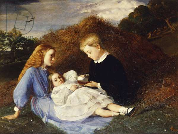 Amy, Dorothea and Hungerford Wren Hoskyns, 1863 (oil on canvas)