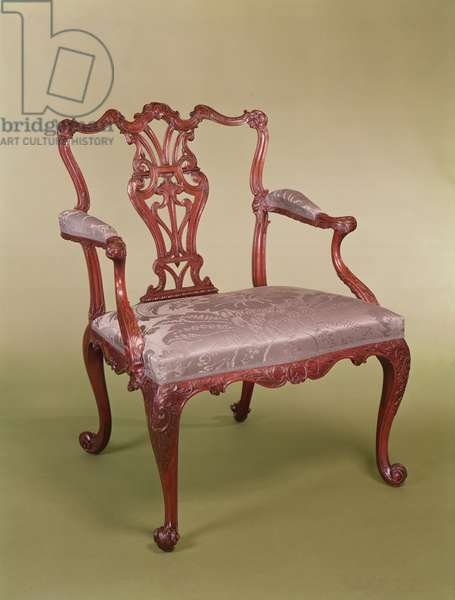 Armchair by Thomas Chippendale, c.1760 (mahogany)