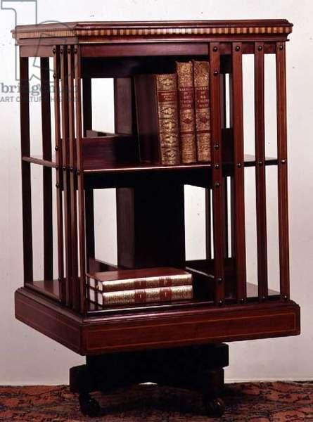 Revolving bookcase, mahogany, c.1870