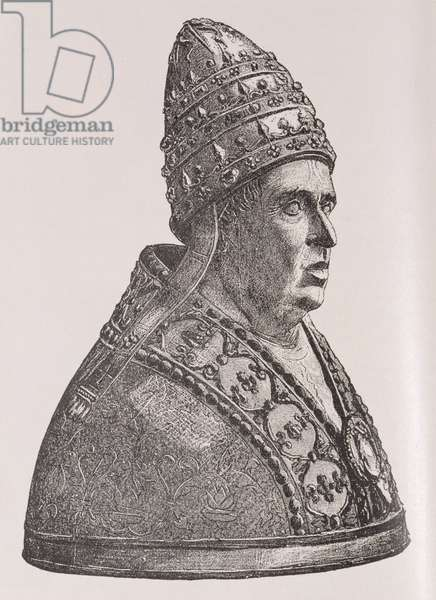 Bust of Pope Alexander VI (1431-1503) (engraving)