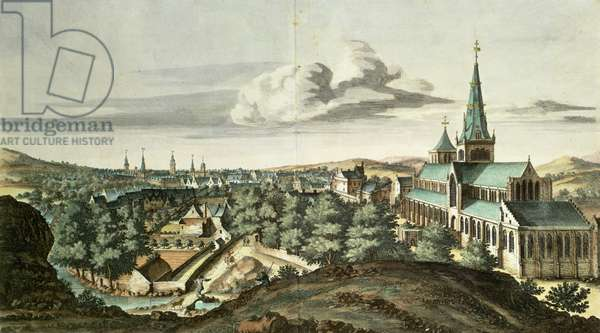 Prospect of the Town of Glasgow from the North East (coloured engraving)