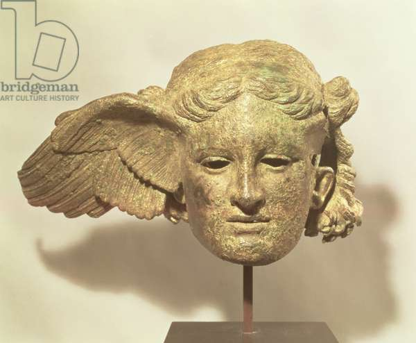 Head of Hypnos, or Sleep, 1st-2nd century AD copy of a Hellenistic original, found at Civitella d'Arno, Italy (bronze)
