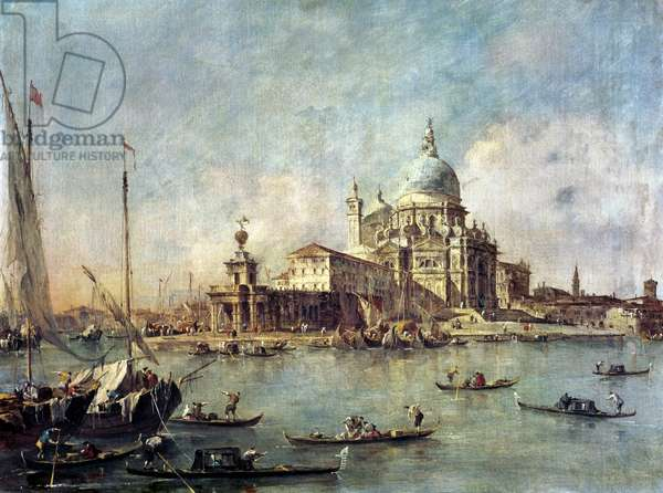 Venice, The Punta della Dogana with Santa Maria della Salute, c.1770 (oil on canvas)