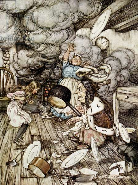 In the Duchess's Kitchen, illustration to 'Alice's Adventures in Wonderland' by Lewis Carroll (1832-98) 1907